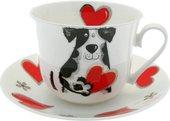 Чайная пара для завтрака Любимые собаки 500мл Roy Kirkham XMYLOVD1100