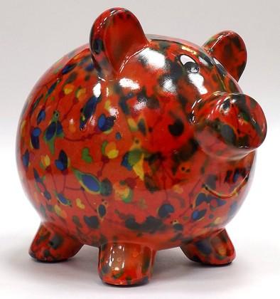 Копилка Pomme-Pidou Свинка Peggy оранжевая пёстрая 148-00025/3