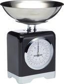 Весы кухонные механические KitchenCraft Lovello Retro Black LOVSCALESBLK