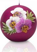 Свеча Орхидея матовая, шар 10см Bartek Candles 5901685024457