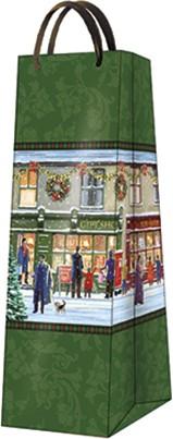 Пакет подарочный бумажный Paw Зимние витражи 12x37x10см AGB023404