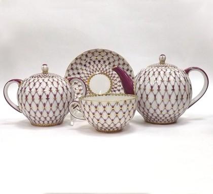 Сервиз чайный 6/14 Сетка-Блюз, ф. Тюльпан ИФЗ 81.15516.01.1