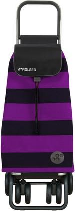 Сумка-тележка хозяйственная фиолетово-чёрная Rolser LOGIC TOUR PAC045lila/negro