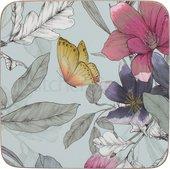 Подставки под чашку Creative Tops Butterfly Floral 10.5x10.5, 6шт, пробка C000298