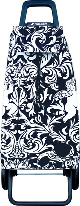 Сумка-тележка хозяйственная чёрно-белая Rolser RG MOUNTAIN MOU111blanco/negro