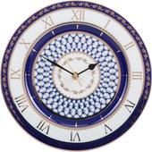 Часы настенные Кобальтовая сетка, фарфор, 270мм, ИФЗ Европейская-2 81.25610.00.1