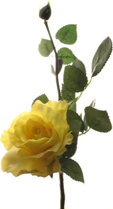 Цветок искуственный Роза Лимбо ярко-жёлтый, 30см Top Art Studio WAF0932-TA