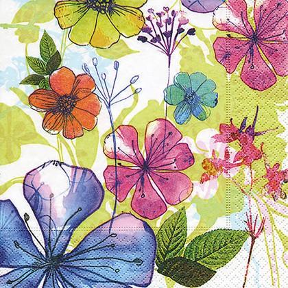Салфетки для декупажа Paper+Design Цветочный коллаж, 33x33см, 20шт 200038