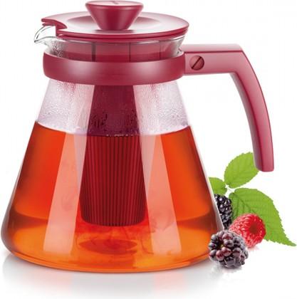 Чайник Tescoma Teo 1.25л, с ситечками для заваривания, красный 646623.20