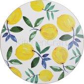 Подставки под тарелки на стол Creative Tops Лимоны d29см, 4шт, пробка C000276