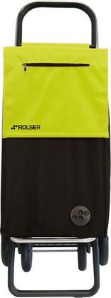 Сумка-тележка хозяйственная чёрная с зелёным лаймом Rolser QUATTRE.2 SBE001negro/lima