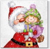 Салфетки для декупажа Paw Дед мороз и ребёнок, 33x33см, 20шт. TL654000