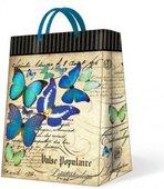 "Пакет подарочный ""Бабочки бирюзовые"" 30х12х41см Paw AGB015302"