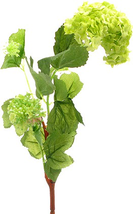 Цветок искусственный Снежный шар зеленый Top Art Studio HR6520-GR