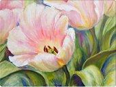 Подставки под тарелки на стол Top Art Studio Альпийские тюльпаны 40x29см, 4шт, пробка GD2513-TA