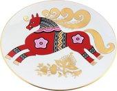 Тарелка декоративная ИФЗ Эллипс, Красный конь 80.89344.00.1