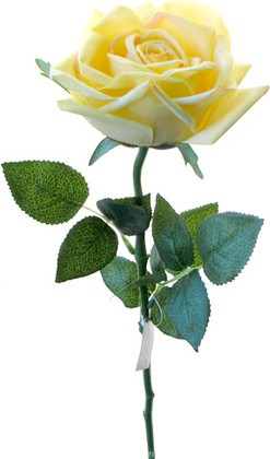 Цветок искусственный Роза Гран При чайная, 65см живое прикосновение Top Art Studio WAF0325-TA