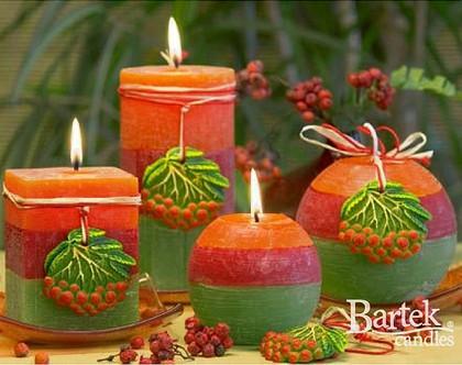 "Bartek Candles RUSTIC ROWAN BERRY Свеча ""Рябина"" - образ коллекции A, шар 80, артикул 5907602655452"