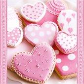 Салфетки для декупажа Нежные сердечки, 33x33см, 3 слоя, 20шт Paw SDL370000