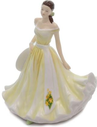 Статуэтка English Ladies Март Нарцисс, March Daffodil, 17см фарфор ELGEFM21003