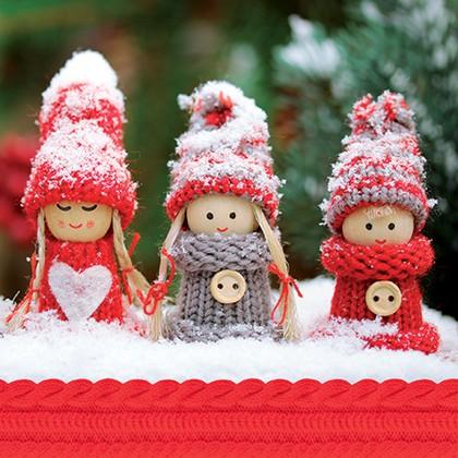 Салфетки для декупажа Снежные куколки 33x33см, 3 слоя, 20шт Paw SDL073800