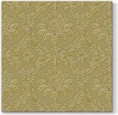 Салфетки ланч 3-х слойные Вдохновение классика, золото, 33x33, 20шт Paw SDL100209