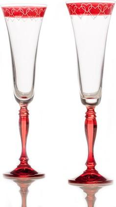 Фужеры для шампанского 180мл, 2шт. Виктория Crystalite Bohemia 40727/180/K0106х2