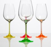 Бокалы для вина Crystalite Bohemia Неон, 4шт., 340мл 40751/340/neonх4