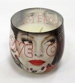 Свеча LOVE, стакан 8x7.5см Bartek Candles 5901685002615