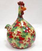 Копилка Pomme-Pidou Маленький Цыплёнок Marie зелёная с бабочками 148-00071/1