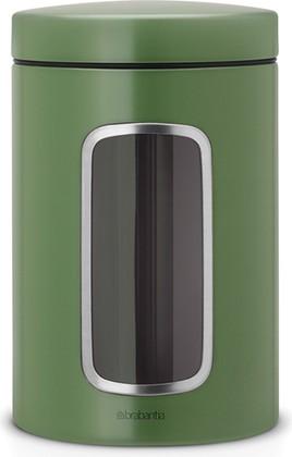 Контейнер для сыпучих продуктов Brabantia, с окном 1.4л, зелёный мох 486005