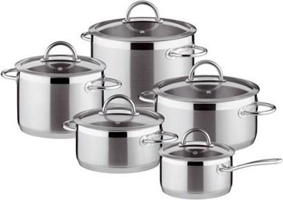 Набор посуды из нержавеющей стали, 16/18/22см, 10 предметов Tescoma Vision 726010.00