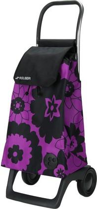 Сумка-тележка хозяйственная компактная фиолетово-чёрная Rolser JOY-1800 BABY BAB002lila/negro
