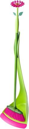 Совок + щетка с ручкой Vigar Flower Power 6433