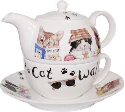 """Чайник на одного """"Коты модники"""" Roy Kirkham XANICAT1201"""