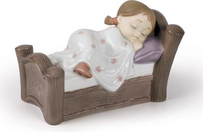 Статуэтка фарфоровая Спящая девочка (Cosy Dreams) 9см NAO 02001503
