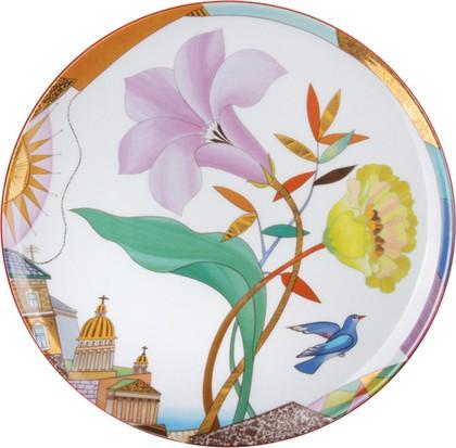 Тарелка декоративная Лиловый вечер, ф. Эллипс ИФЗ 80.83755.00.1