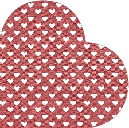 Салфетки Сердце красные d32см, 3-сл., 12шт. Paw SDH089800