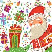 Салфетки для декупажа Санта с подарками 33x33см, 3 слоя, 20шт Paw SDL071400