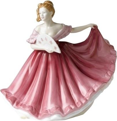 Статуэтка Элайн (розовая) 17см, фарфор Royal Doulton PEFISC19422