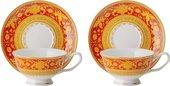 Чайная пара Top Art Studio Версаль Красное Золото, 180мл, набор 2 пары SC2478-TA