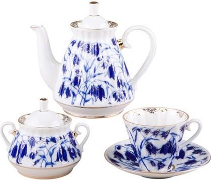 Сервиз чайный ИФЗ Лучистая, Колокольчики, 14 предметов 81.14705.03.1