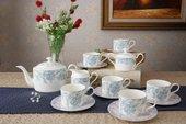 Чайный сервиз Top Art Studio Жардан Блю, 15 предметов, 6 персон YF2079-TA
