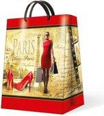 Пакет подарочный бумажный Paw Модница красный 30х12х41см AGB015802