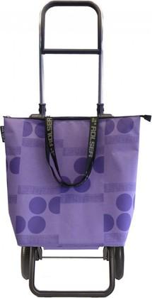 Сумка-тележка Rolser Logos Mini Bag, 2 колеса, складная, фиолетовая MNB011malva