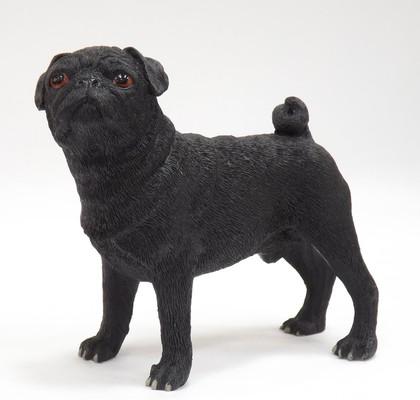 Статуэтка Lesser & Pavey Собака Мопс черный, 12см, полистоун LP22894