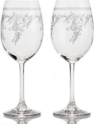 Фужеры для белого вина 450мл, 2шт. Кружево Crystalite Bohemia 4S032/450/28183х2