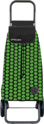 Сумка-тележка хозяйственная зелёно-чёрная Rolser LOGIC RG PAC011verde/negro