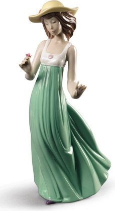 Статуэтка фарфоровая Девушка в соломенной шляпе (Gentle Breeze) Специальное издание 25см NAO 02001830
