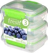 Набор контейнеров 200мл, 3шт, салатовый Sistema Fresh 951523